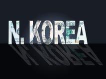 Illustration coréenne du nord d'économie et de finances 3d illustration stock