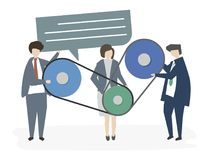 Illustration of corporate business people royalty free illustration