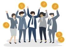 Illustration of corporate business people stock illustration