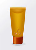 Illustration of a cosmetic tube. Vector Royalty Free Stock Photo