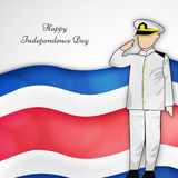 Illustration of Costa Rica Independence Day Background Royalty Free Stock Photos