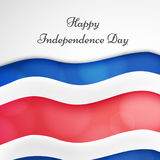 Illustration of Costa Rica Independence Day Background Stock Photography