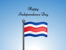 Illustration of Costa Rica Independence Day Background Royalty Free Stock Photography