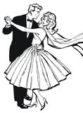 Illustration of a couple dancing, Royalty Free Stock Images