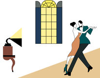 Illustration of a couple dancing Royalty Free Stock Photography