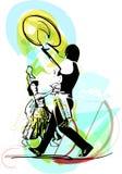 Illustration of Couple dancing marinera Royalty Free Stock Photos