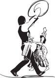Illustration of Couple dancing marinera Stock Images