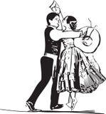 Illustration of Couple dancing marinera Royalty Free Stock Photography