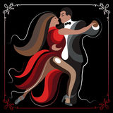 Illustration of a couple dancing the tango 2 Royalty Free Stock Photo