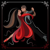 Illustration of a couple dancing the tango 3 Royalty Free Stock Photography