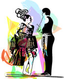 Illustration of Couple dancing Royalty Free Stock Photography