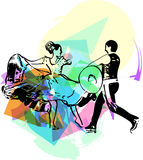 Illustration of Couple dancing Stock Photos