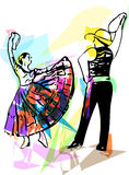 Illustration of Couple dancing Stock Image