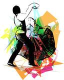 Illustration of Couple dancing Stock Photo
