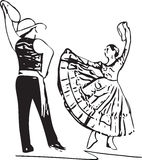 Illustration of Couple dancing Royalty Free Stock Images
