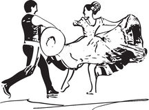 Illustration of Couple dancing Stock Photography