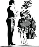 Illustration of Couple dancing Stock Images