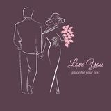 Illustration of a couple in love. Royalty Free Stock Images