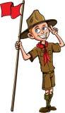 Illustration courante de bande dessinée de vecteur d'un scout de garçon Images stock