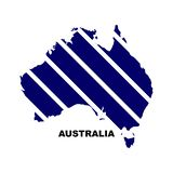 Illustration courante 5 de vecteur d'icône de carte de l'australie de vecteur illustration libre de droits