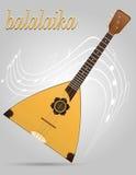 Illustration courante de vecteur d'instruments de musique de balalaïka Images stock