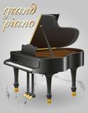Illustration courante de vecteur d'instruments de musique de piano à queue Photo stock