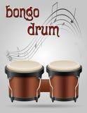 Illustration courante de vecteur d'instruments de musique de tambours de bongo Image stock