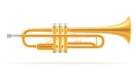 Illustration courante de vecteur d'instruments de musique de vent de trompette illustration libre de droits
