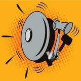 Illustration courante Objectez dans le rétro art de bruit de style et la publicité de vintage Dispositif d'alarme d'incendie Photos stock