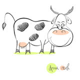 Illustration of cow Royalty Free Stock Image