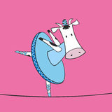 Illustration of cow ballerina Stock Photo