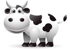 Illustration of cow cartoon Royalty Free Stock Images