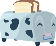 Illustration cow toaster Stock Photos