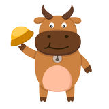 Illustration of  cow on white background Royalty Free Stock Photography