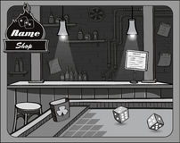 Illustration of cowboy bar craps Royalty Free Stock Image