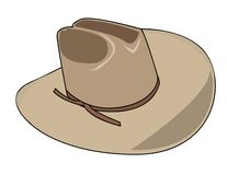 Illustration of a cowboy hat Royalty Free Stock Photo