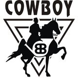Illustration Cowboy Vector design Royalty Free Stock Images
