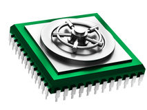 Illustration of cpu chip Stock Images