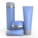 Illustration crème bleue des tubes 3D Images libres de droits