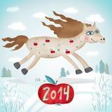 Illustration créative avec le cheval Photo stock
