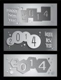 Illustration créative de bannière de la bonne année 2014 Photo libre de droits