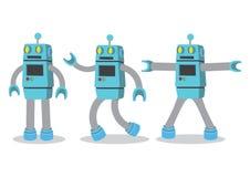 Illustration créative de vecteur de bande dessinée de robot sur le backgroun blanc illustration stock