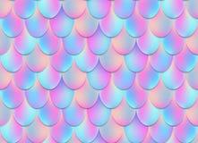 Illustration créative de vecteur de fond olographe de queue de sirène sur le fond transparent Maille de conception d'art illustration stock