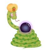 Illustration créative et art innovateur : Magicien de serpent - conception de personnages illustration libre de droits