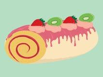 Illustration crémeuse de petit pain de gâteau de chocolat Illustration de Vecteur