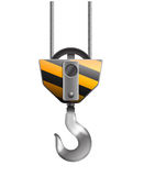 Illustration of the crane hook Royalty Free Stock Image
