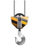 Illustration of the crane hook Royalty Free Stock Image