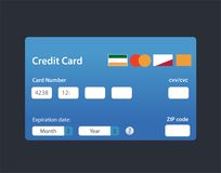 Illustration Credit Card Icon Isolated on white vector illustration
