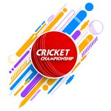 Cricket ball in abstract background. Illustration of cricket ball in abstract background stock illustration