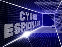 Illustration criminelle de l'attaque 3d de Cyber d'espionnage de Cyber illustration de vecteur